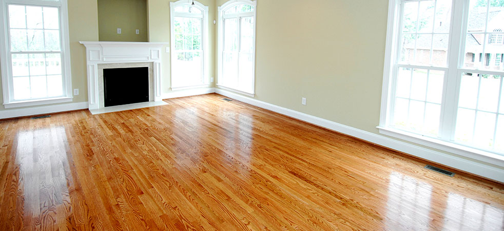 Hardwood Floor Stained Sealed