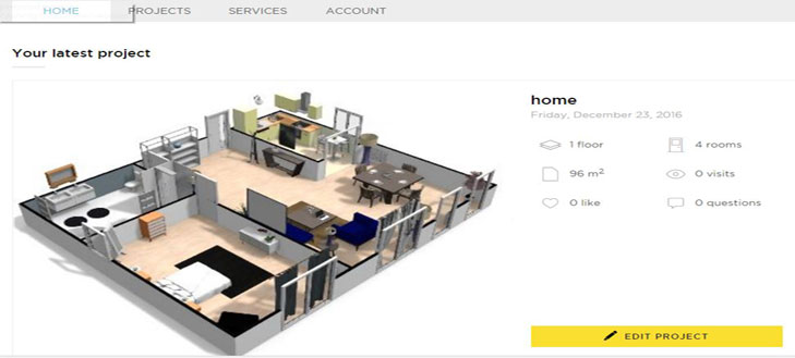 HomeByMe Virtual Designer Tool