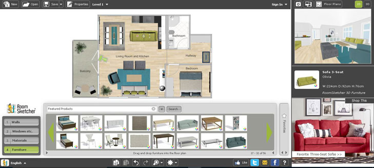 Virtual room designer best free tools from flooring for Apartment virtual planner