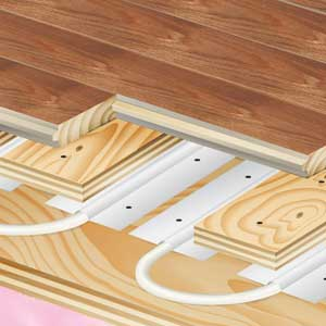 Radiant Floor Heating Installation Hardwood Flooring By Gemini
