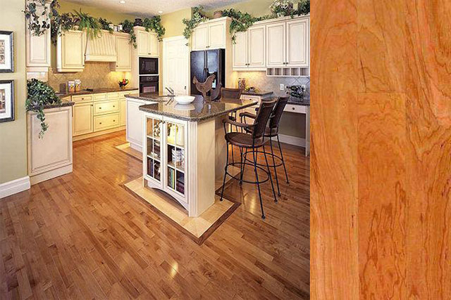 American cherry wood floor