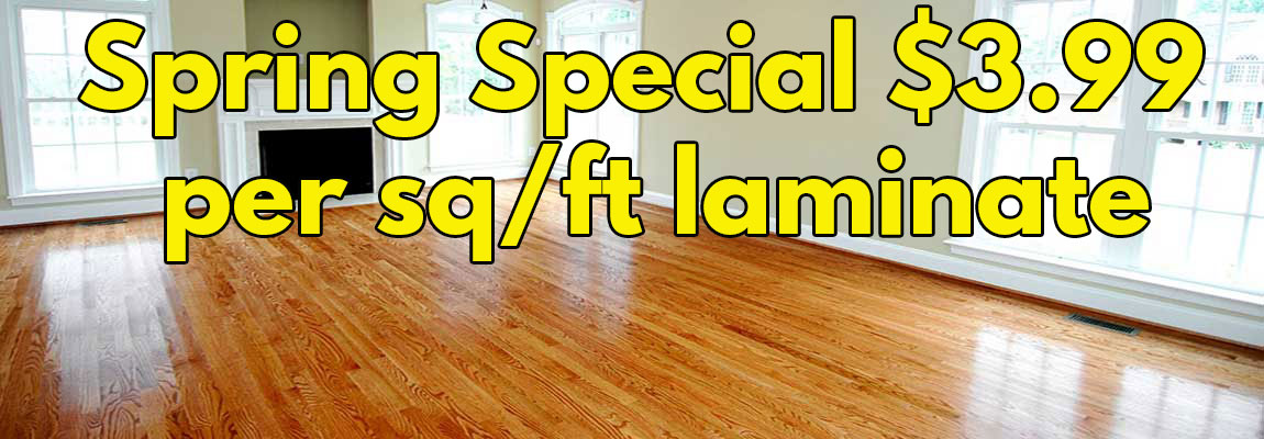 Includes Laminate & Installation
